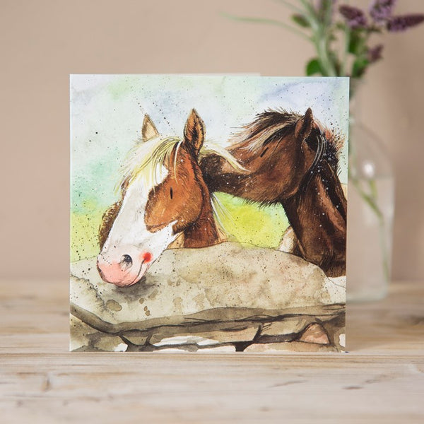 Horse Best Friends Greeting Card