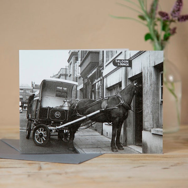 'A Horse Walks in to a Bar' Greeting Card