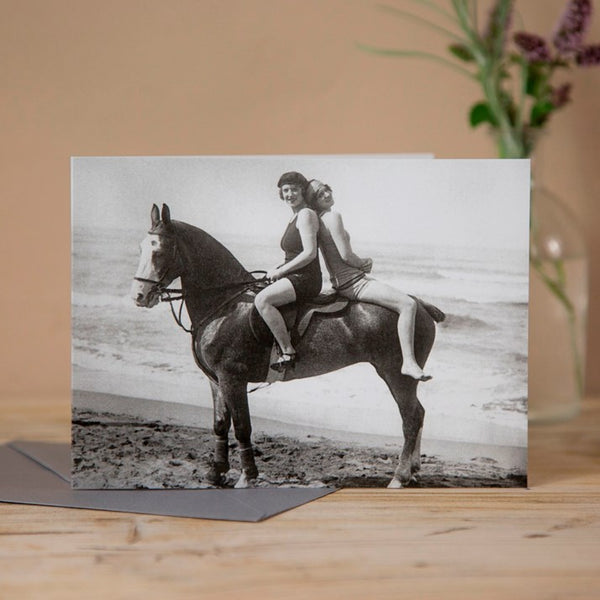 'Hitching A Lift' Horse Greeting Card