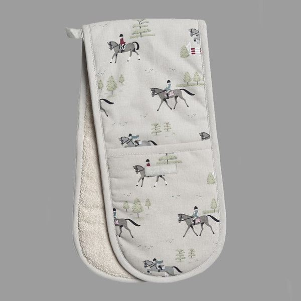 Horses Double Oven Gloves