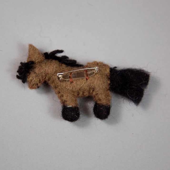 Bay Felt Pony Brooch