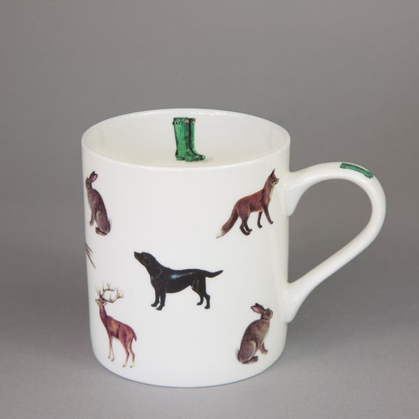 Countryside Animals Bone China Mug