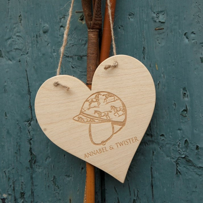 Bespoke Heart Shaped Hanging Plaque
