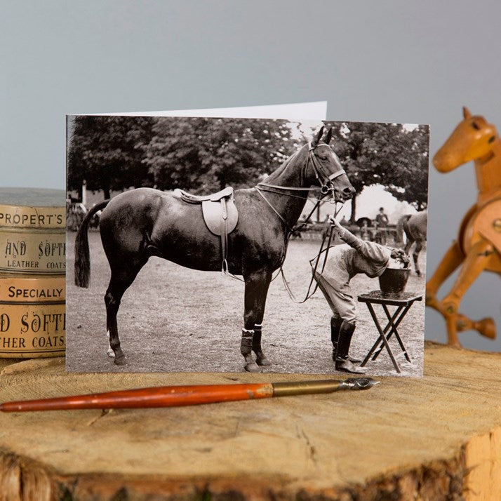 'Working Up A Thirst' Horse Greeting Card