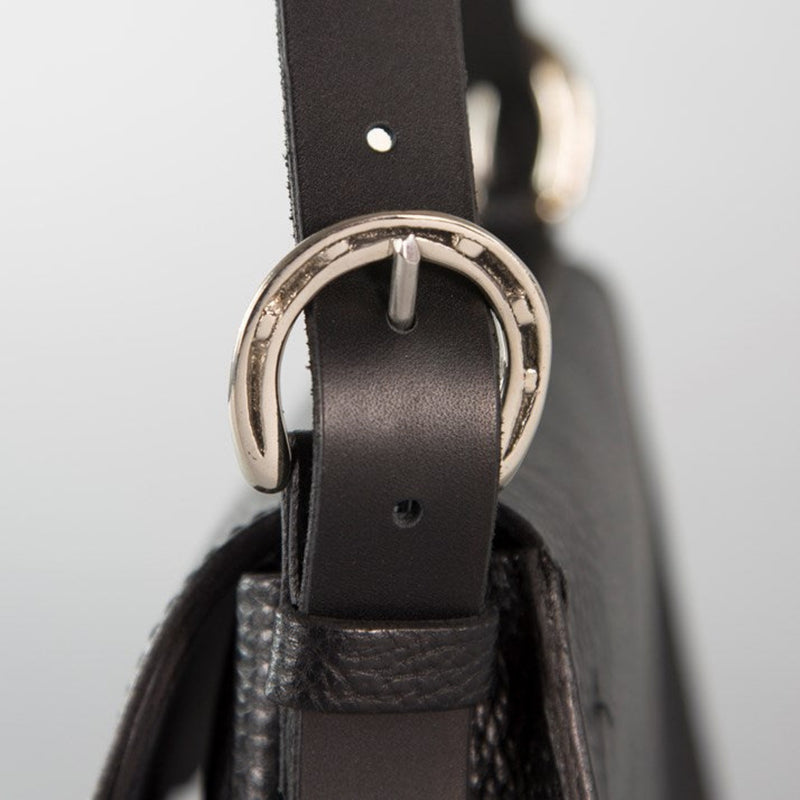 'Palomo' Leather Saddle Handbag - Noir