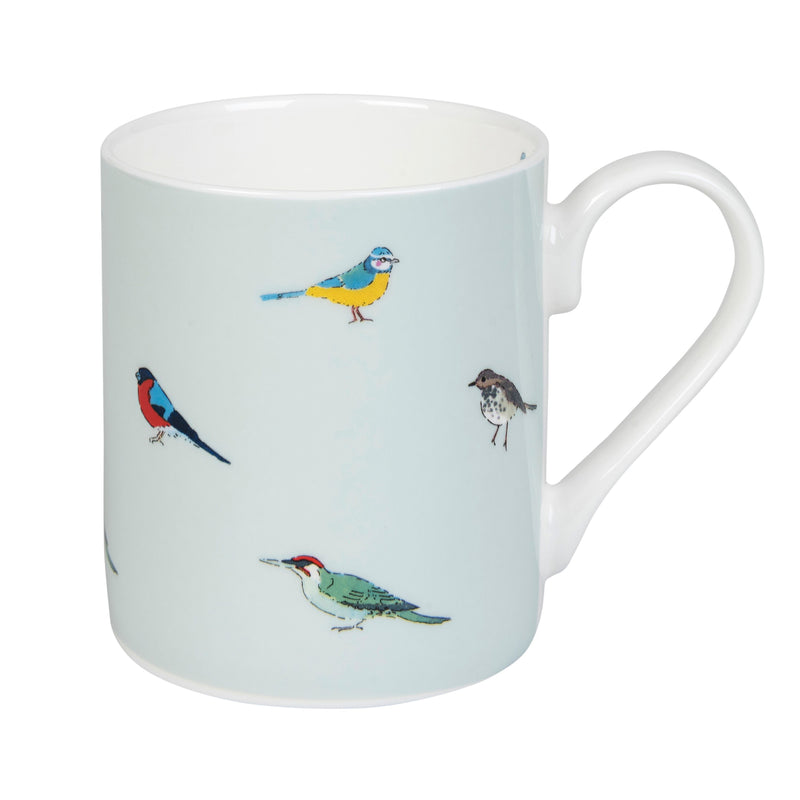 Sophie Allport blue mug with garden birds print