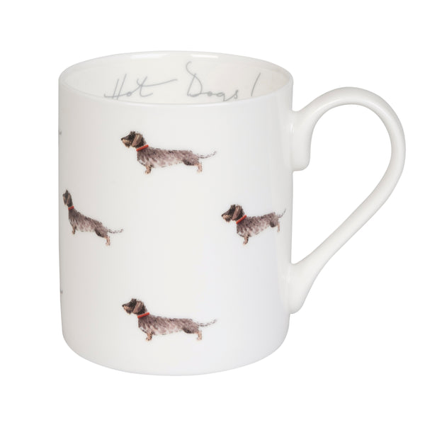 Dachshund Hot Dogs! Mug by Sophie Allport
