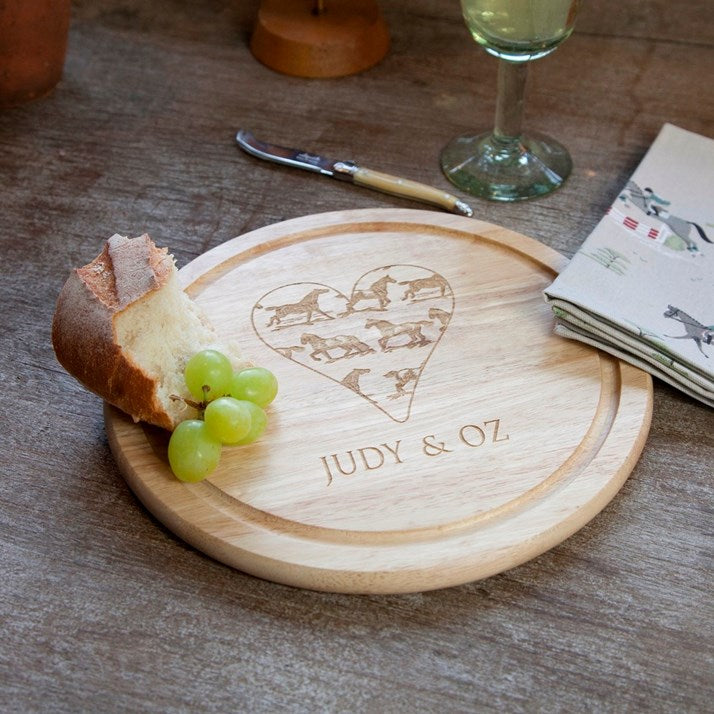 Personalised Round Wooden Bread Board