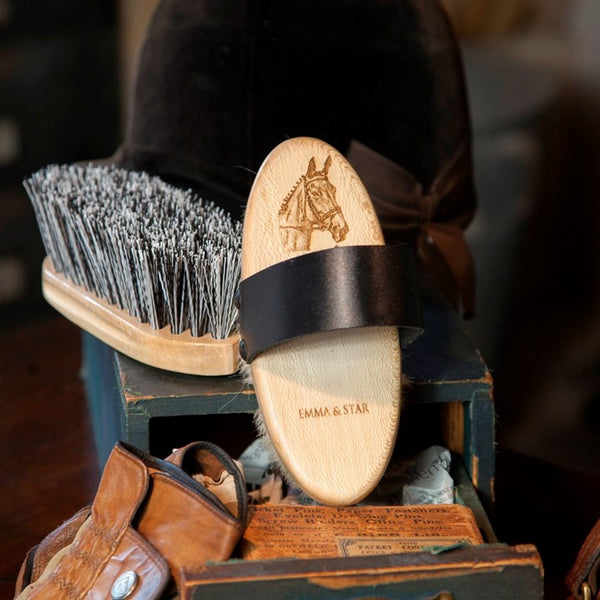 Personalised Wooden Goat's Hair Horse Brush