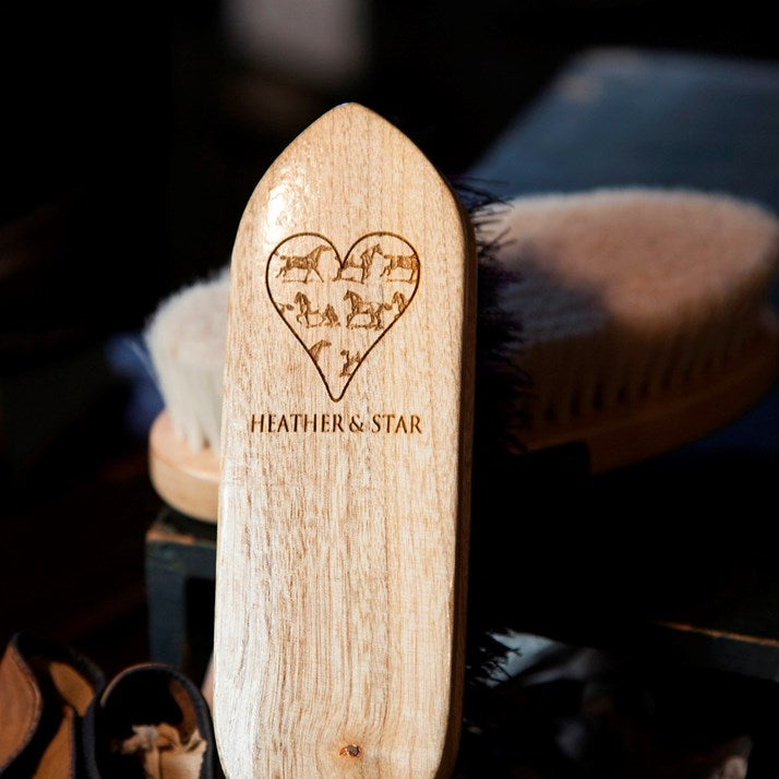 Personalised Wooden Dandy Horse Brush