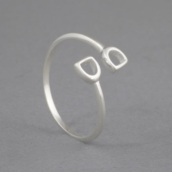 Sterling Silver Stirrups Ring