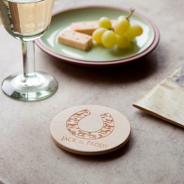 Personalised Round Wooden Coaster