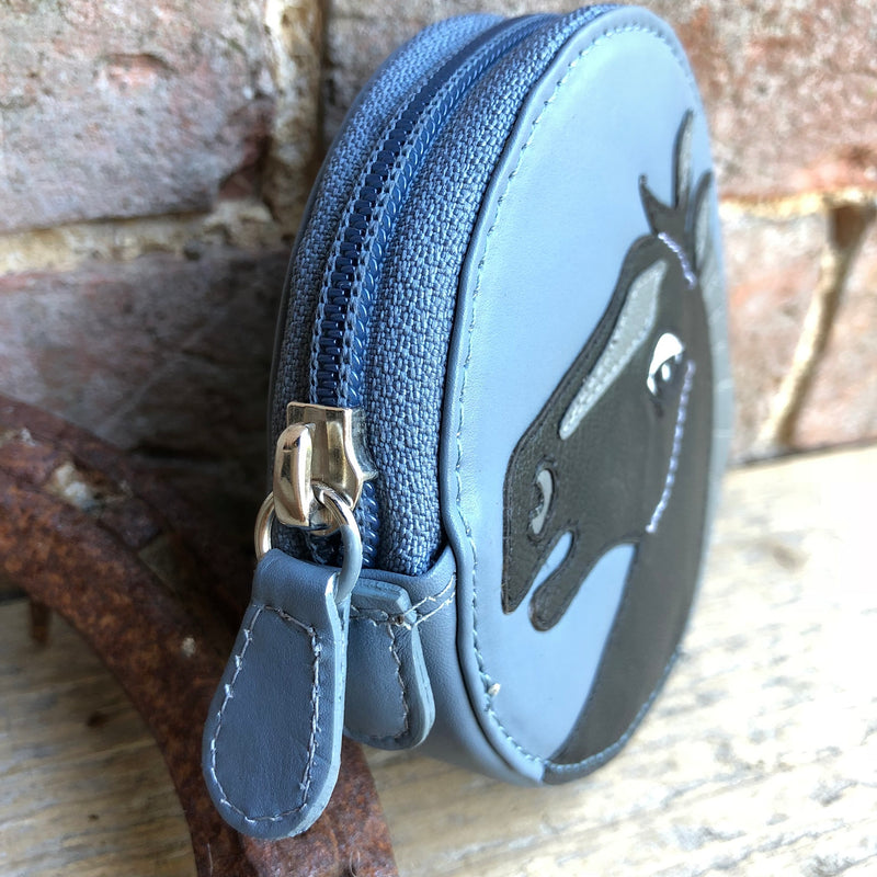 Black Horse Round Coin Purse