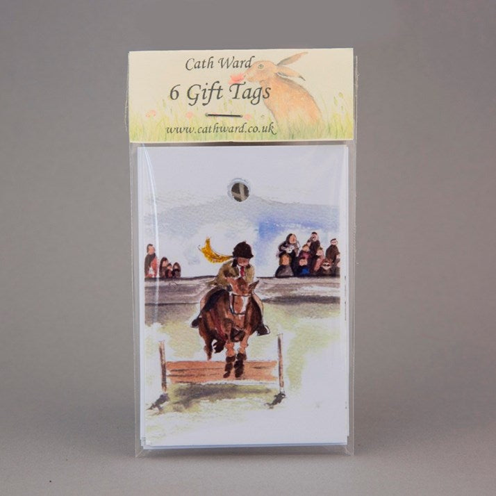 The Jump Off Watercolour Print Gift Tag