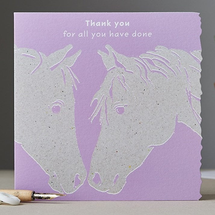 Thank You for all that you have done Horse Card
