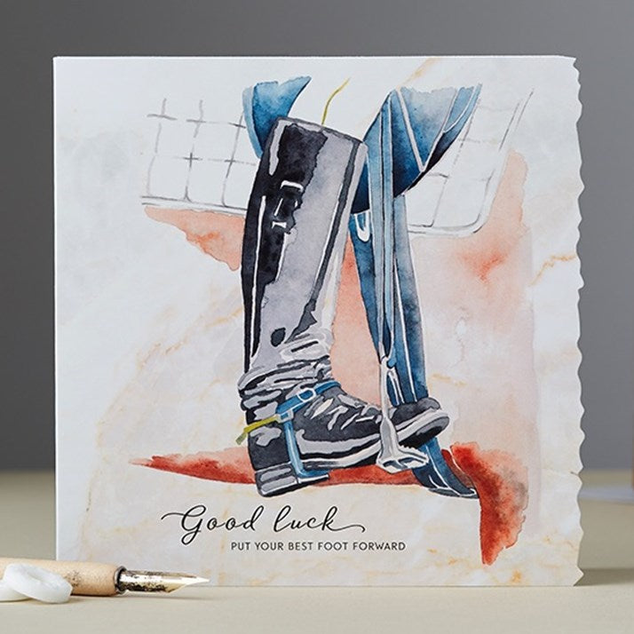 Best Foot Forward Good Luck Card