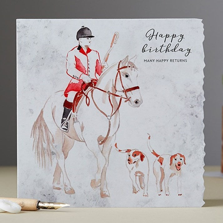 Many Happy Returns Hunting Birthday Card