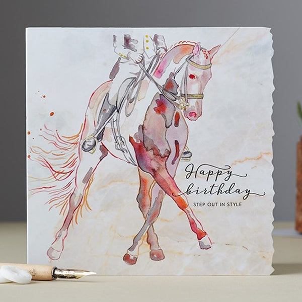 Dressage Birthday Card