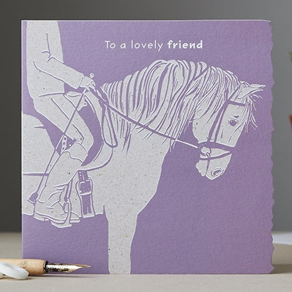 Lovely Friend Horse Card