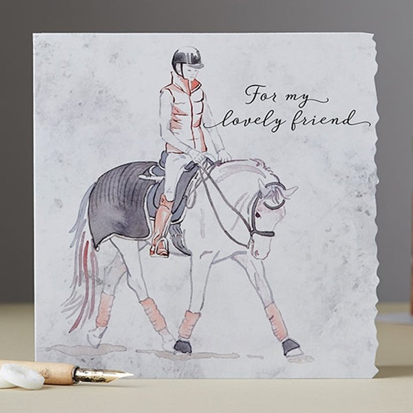 Lovely Friend Horse & Rider Card