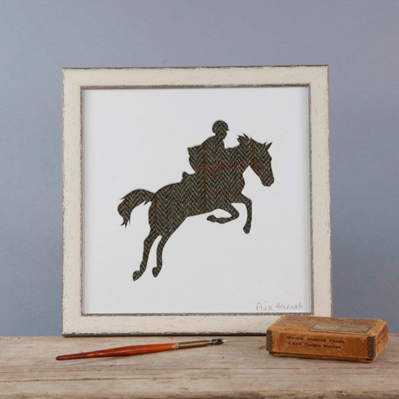 Country Tweed Showjumping Silhouette Picture