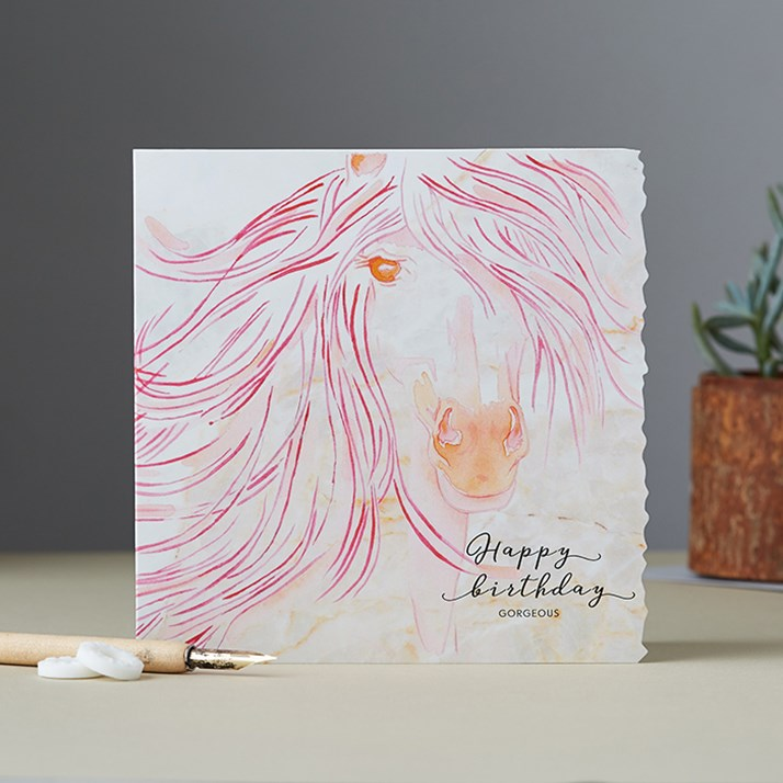 'Happy Birthday Gorgeous' Horse Birthday Card