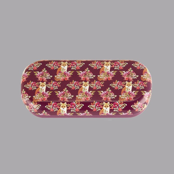 Floral Print Fox Glasses Case