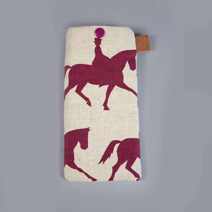 Natural Linen Dressage Rider Glasses Case