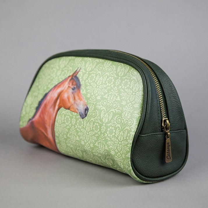 Horse Rider Gift Large Oval Zip Bag