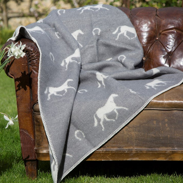 Pure New Wool Horse & Horseshoe Blanket
