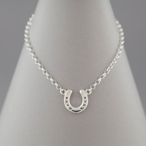 Solid Silver Horseshoe Necklace