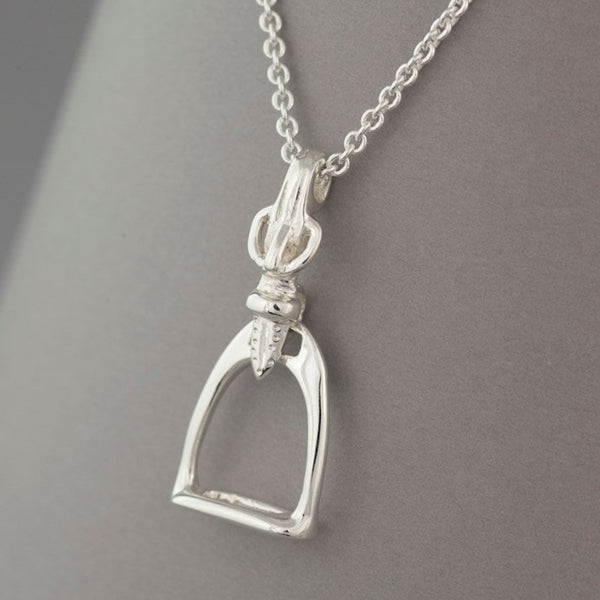Solid Silver Stirrup Pendant
