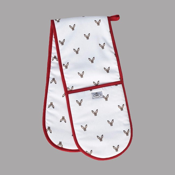 Hare Print Oven Gloves