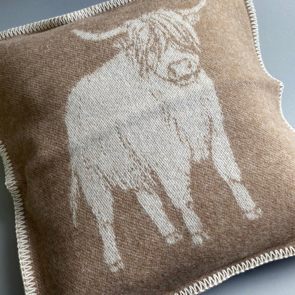 Pure New Wool Highland Cow Cushion