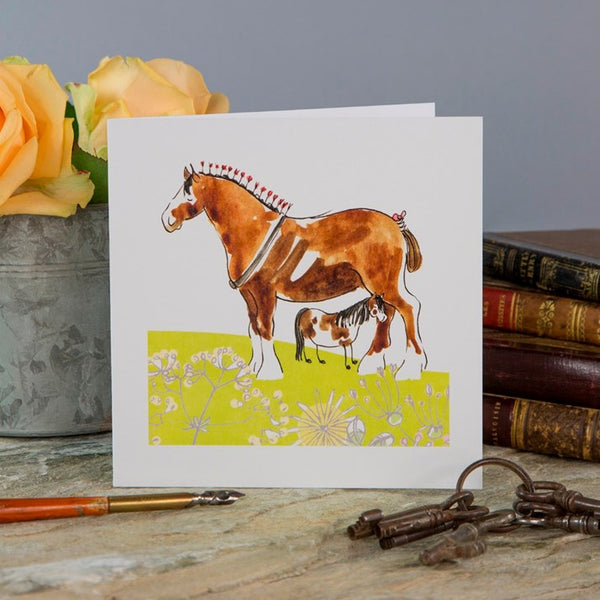 'I Love My Mommy' Horse Greeting Card