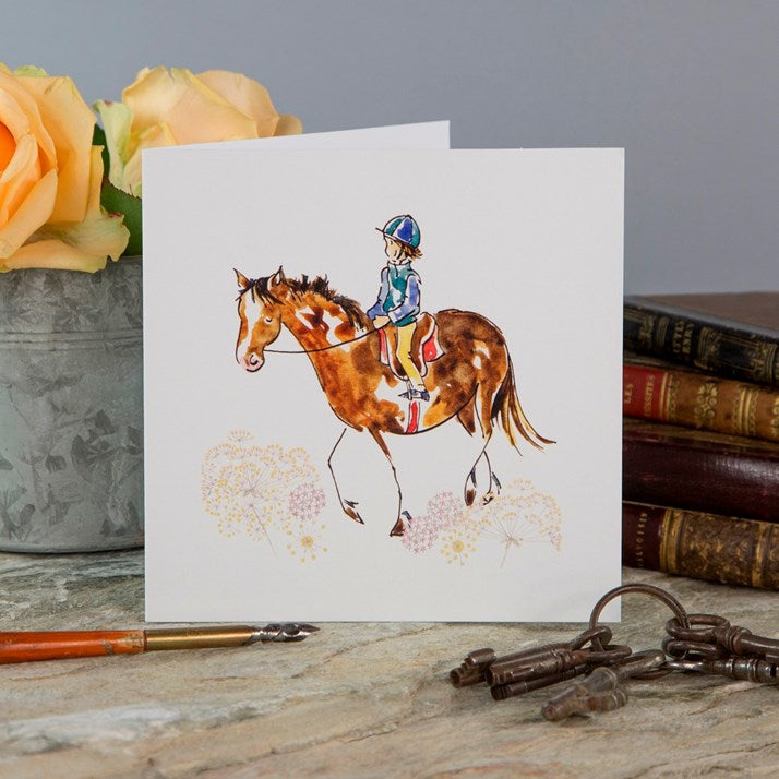 'Looking After Each Other' Horse Card