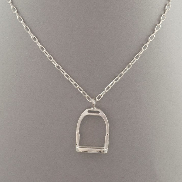 Sterling Silver Stirrup Charm Necklace
