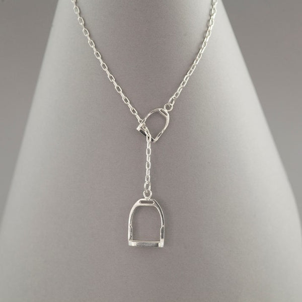 Sterling Silver Double Stirrup Necklace