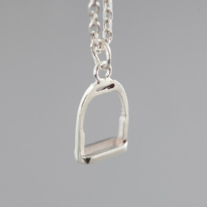 Sterling Silver Equestrian Stirrup Necklace