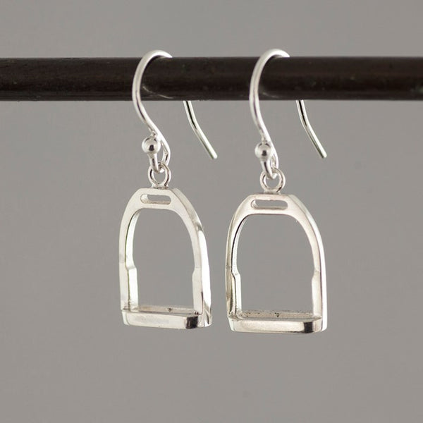 Sterling Silver Dangly Stirrup Earrings