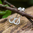 Sterling Silver Horseshoe Cuff Stud Earrings