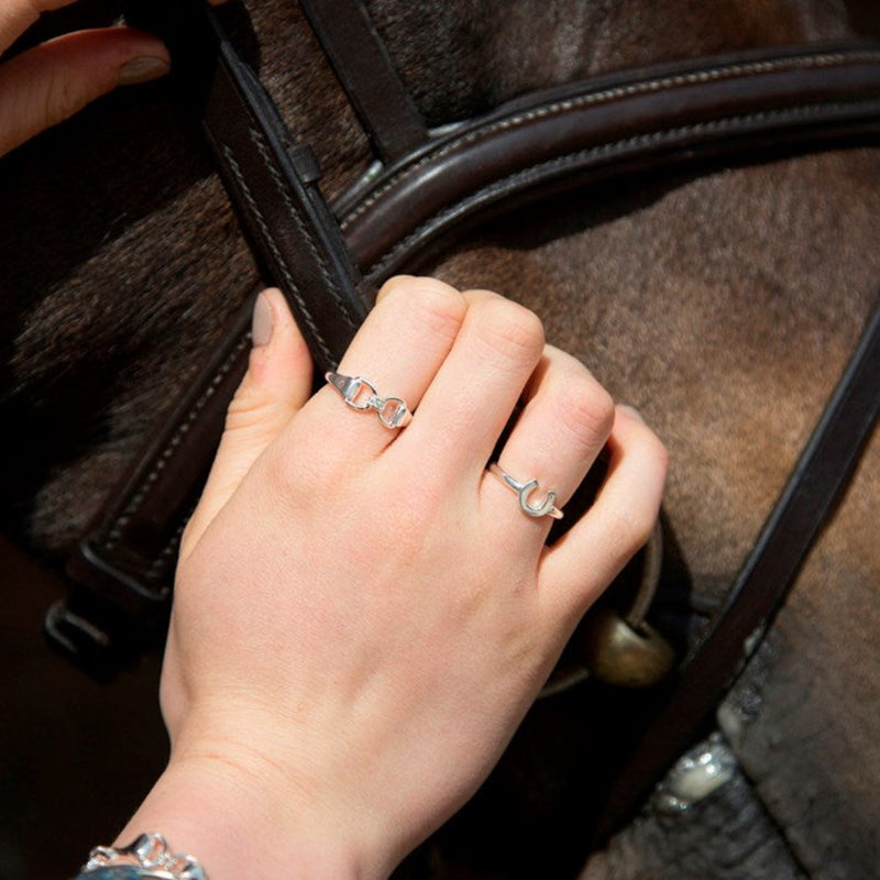 Silver Sparkle Snaffle Bit Ring