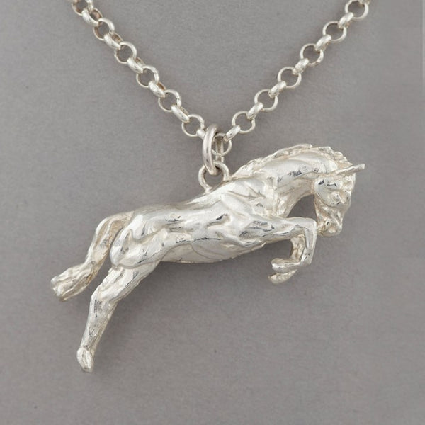 One Horse Race Sterling Silver Necklace