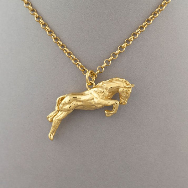 One Horse Race Sterling Silver and Gold-Plated Pendant