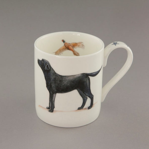 Labrador & Pheasant Bone China Mug