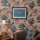 Tartan Horse Print with wooden frame