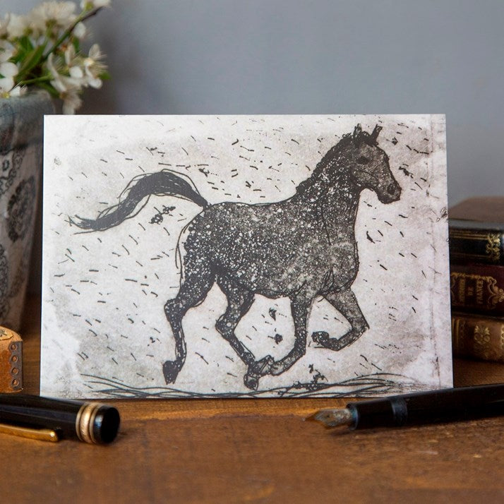 'Ariel' Galloping Horse Card