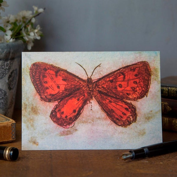 'Red Wing' Butterfly Greeting Card