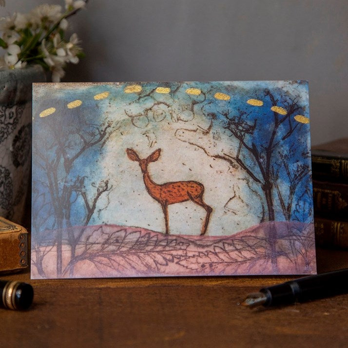 Blue Valley Bambi Greeting Card