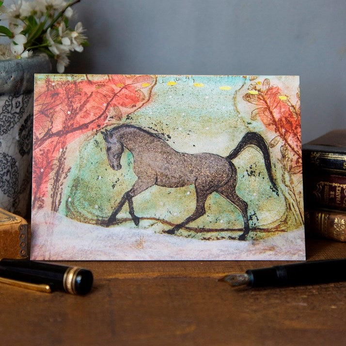 Rose Valley Gallop Horse Card